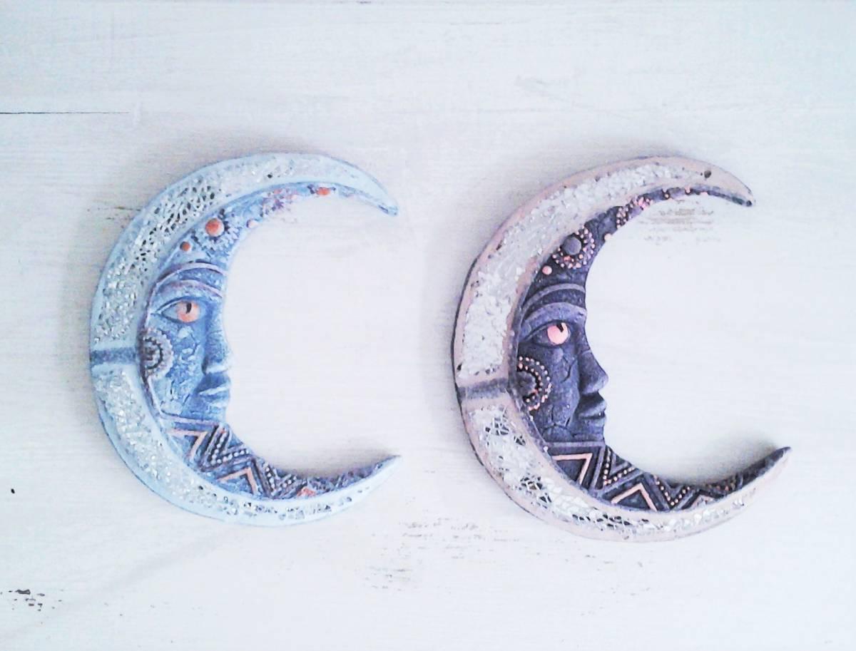 keramický mesiac so sklíčkami 2 druhy 18 x 16 cm