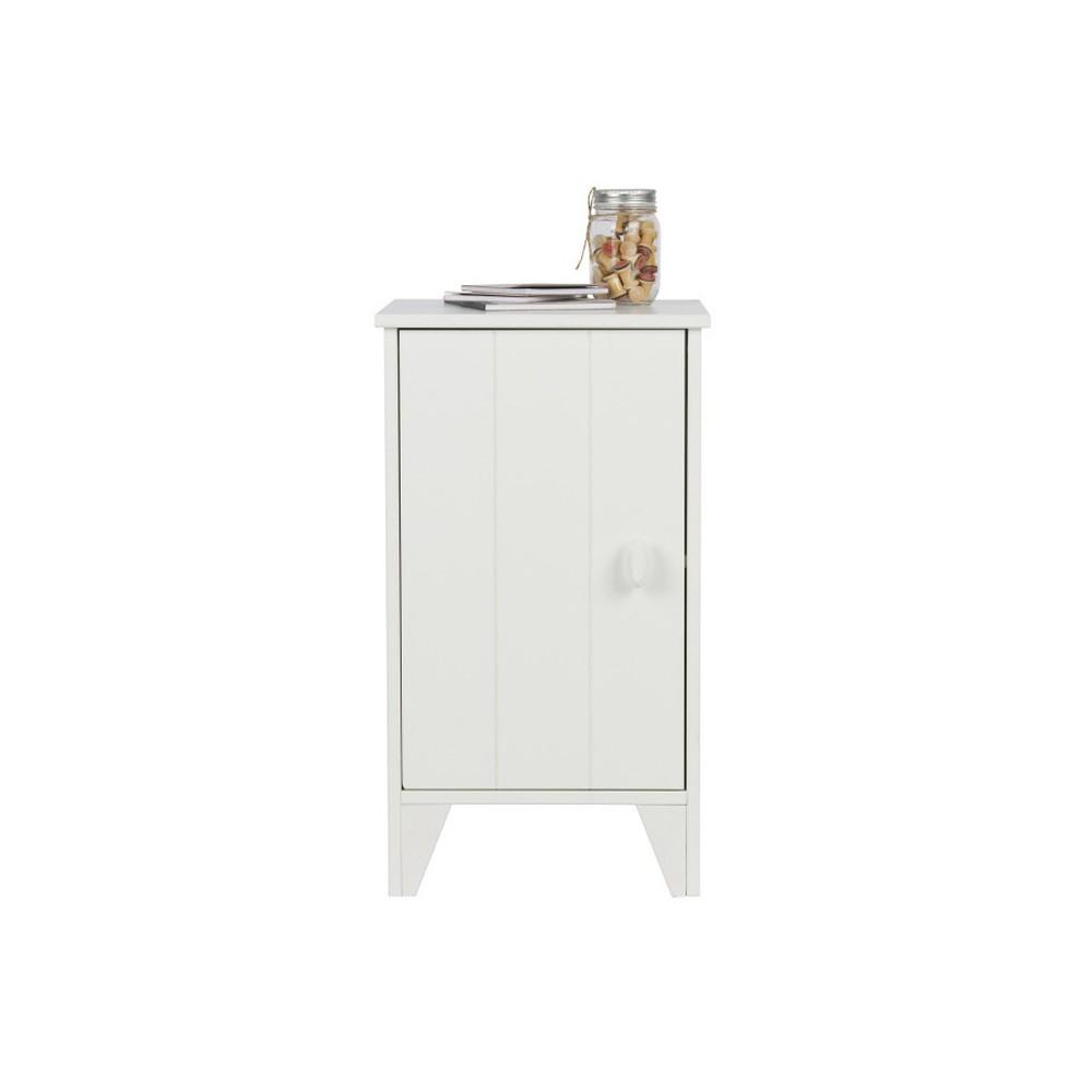 Biely drevený nočný stolík De Eekhoorn Nikki