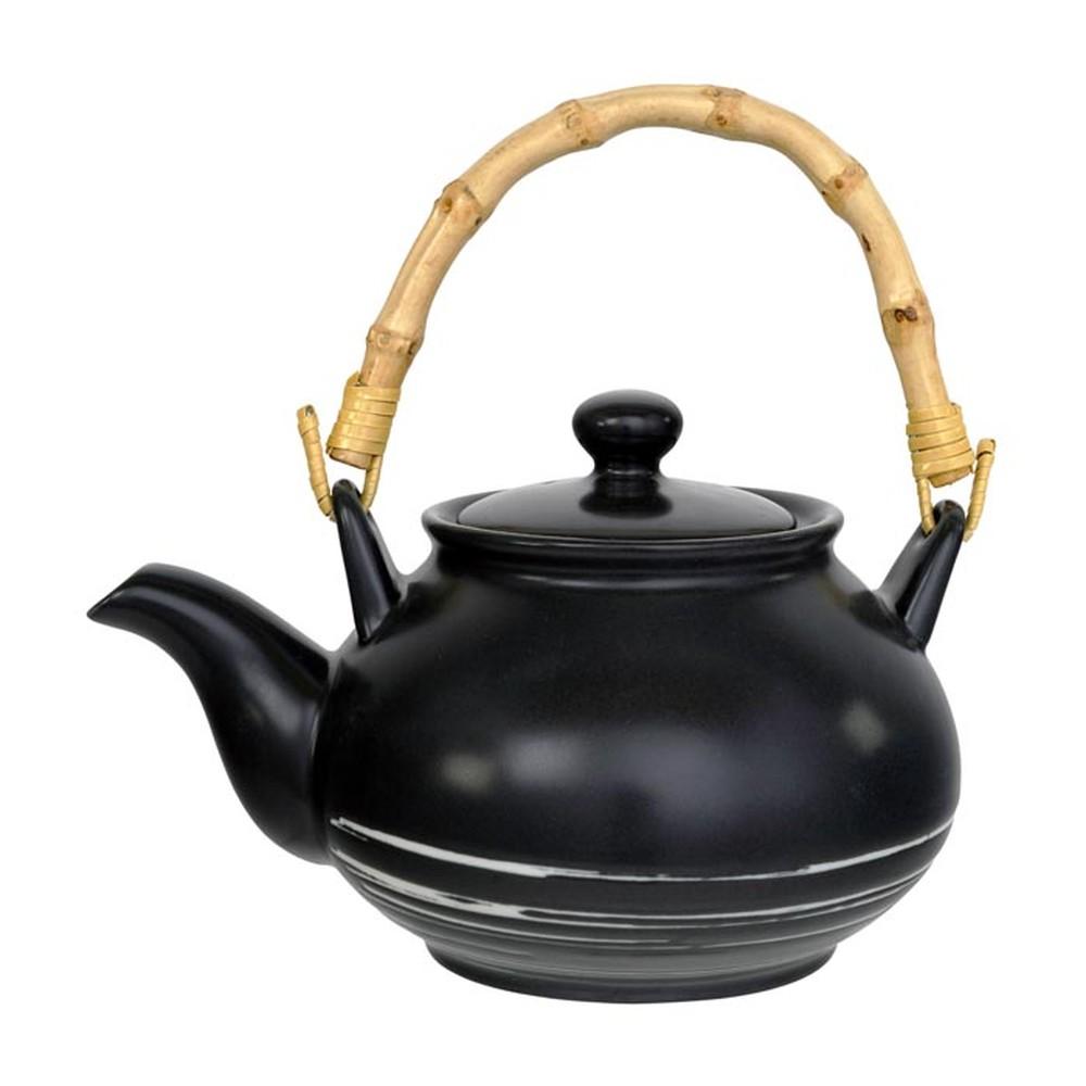Čierna kanvička na čaj Tokyo Design Studio Maru, 1000 ml