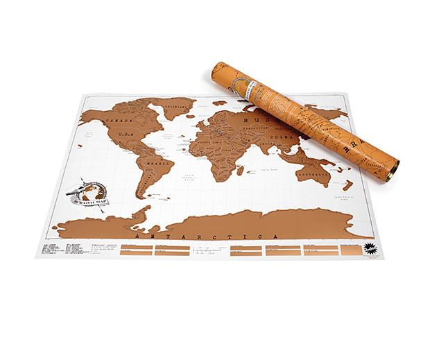 Stieracia mapa sveta Ambiance Scratch Map, 88 x 52 cm