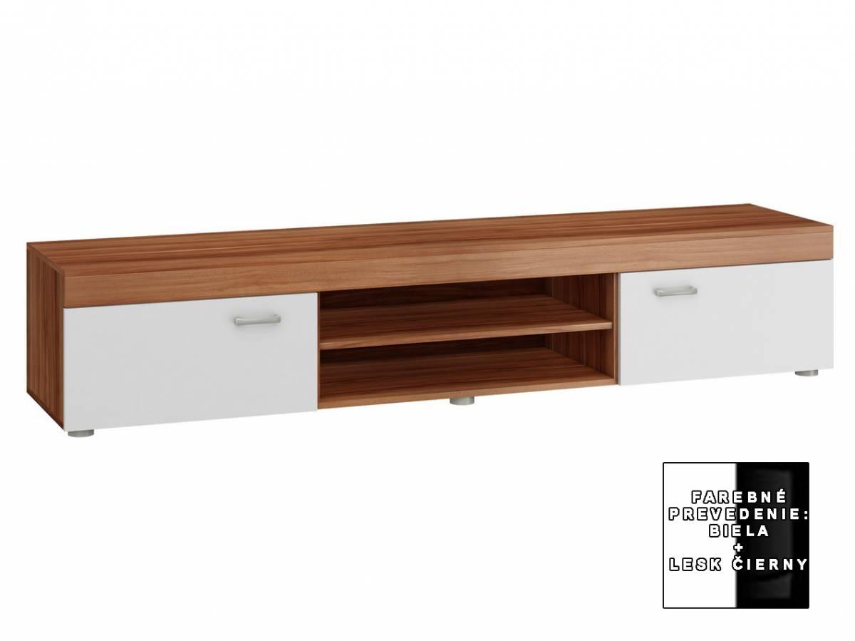 TV stolík/skrinka Mamba MAM 04 (biela + lesk čierny) *výpredaj