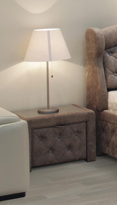 Čalúnený nočný stolík ROMA