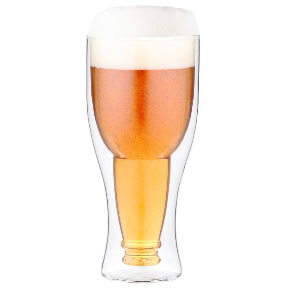 Dvojitý pivný pohár Vialli Design, 350 ml
