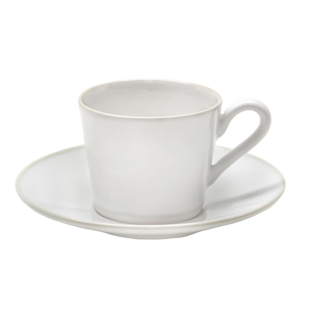 Biely keramický hrnček s tanierikom Costa Nova Astoria, 180 ml