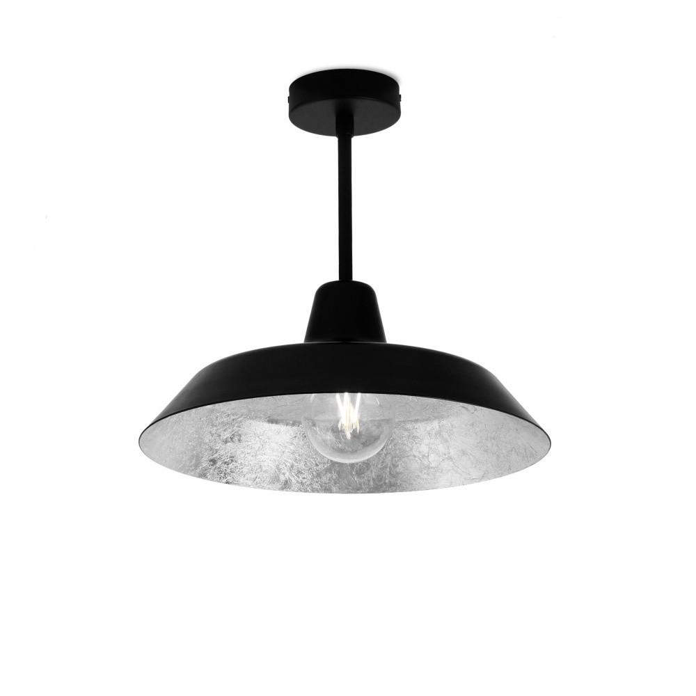 Čierno-strieborné stropné svietidlo Bulb Attack Cinco Basic