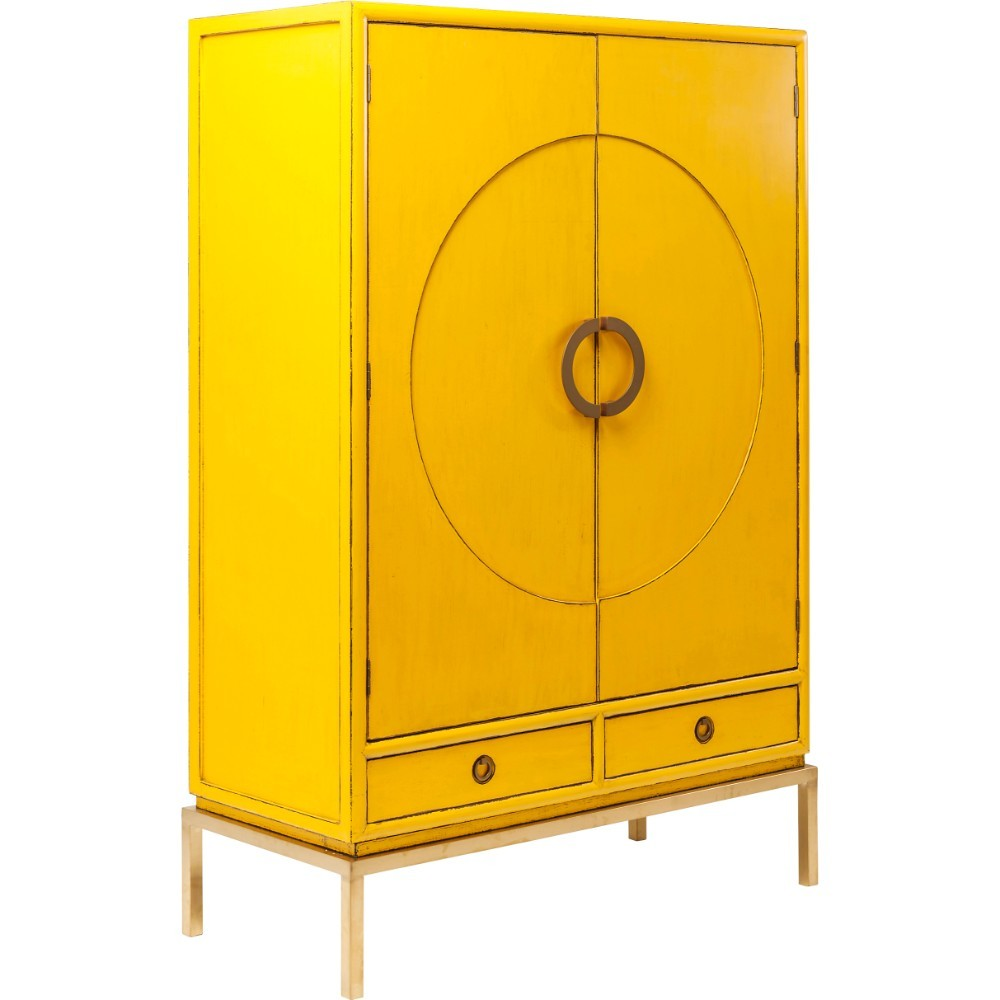 Žltá skriňa Kare Design Disk