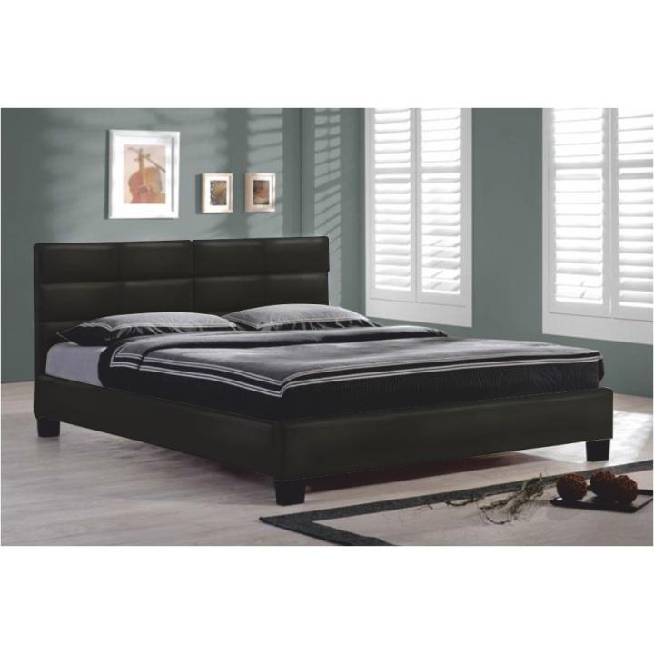 TEMPO KONDELA MIKEL 160 manželská posteľ - čierna