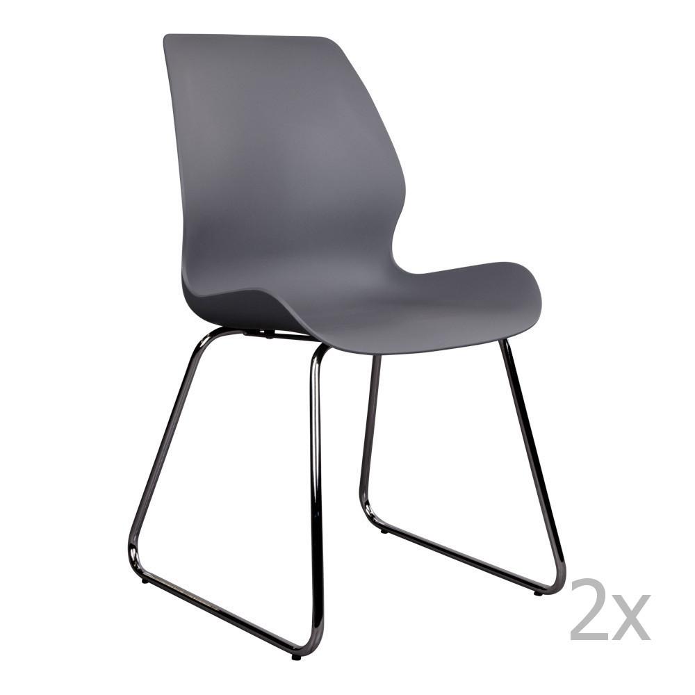 Sada 2 sivých stoličiek House Nordic Sola