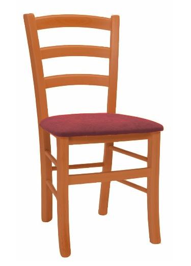 >> Stolička PAYSANE látka s čalúneným sedadlom, čerešňa/bordo 5