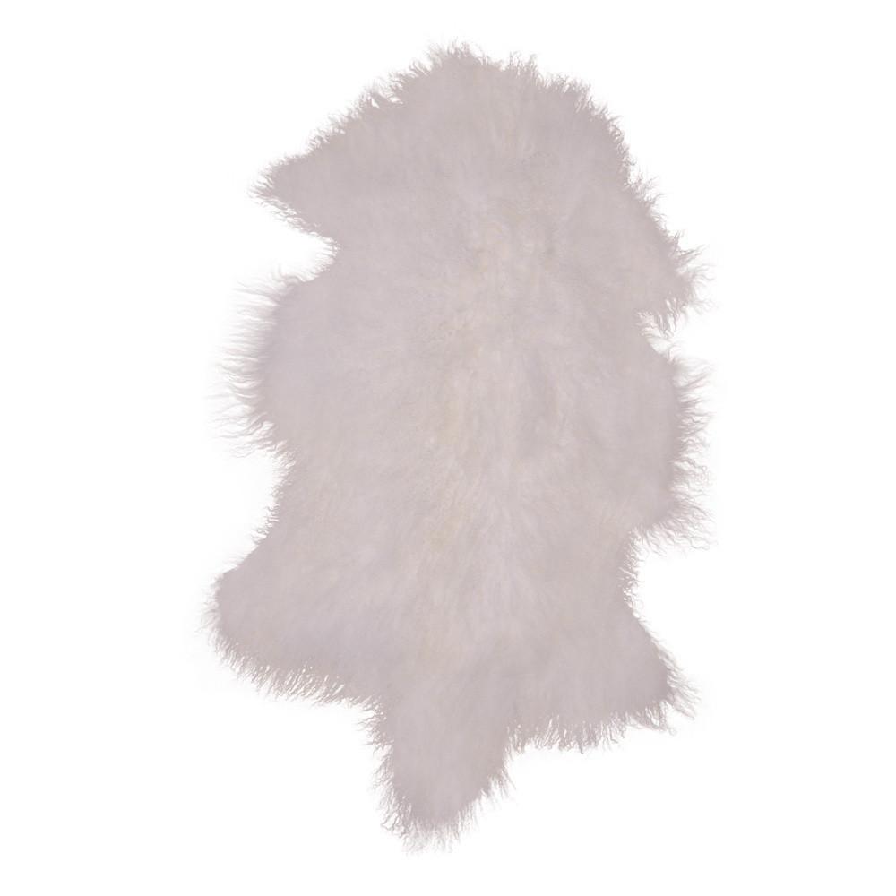 Biela kožušina z mongolskej ovce House Nordic