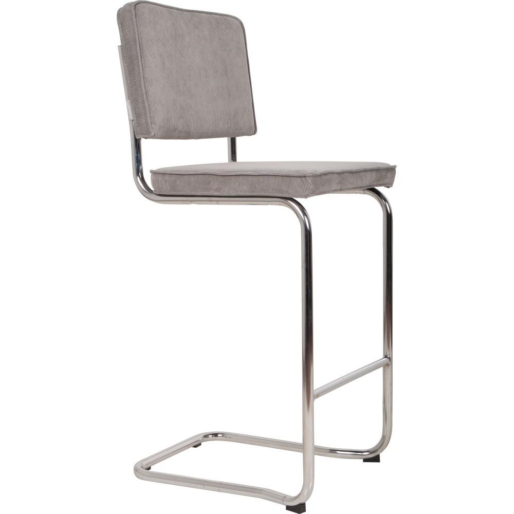 Svetlošedá barová stolička Zuiver Ridge Kink Rib