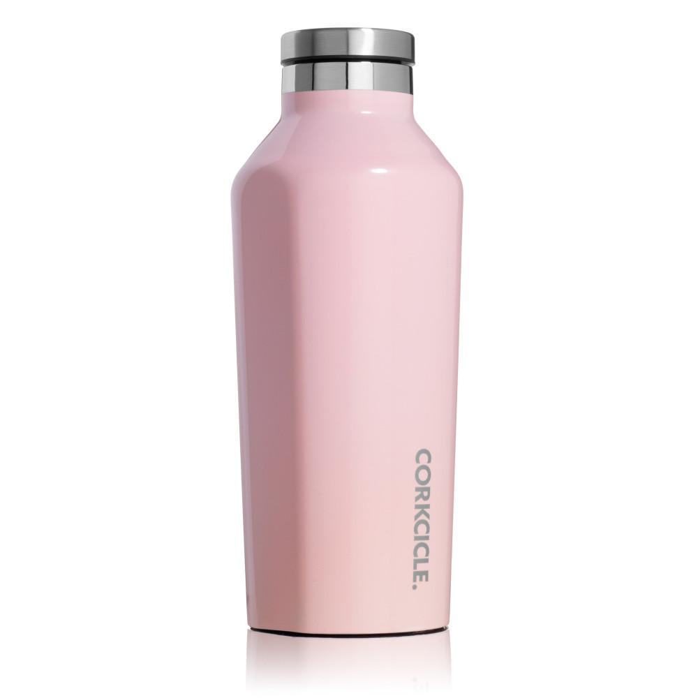 Svetloružová termofľaša Corkcicle Canteen, 260 ml