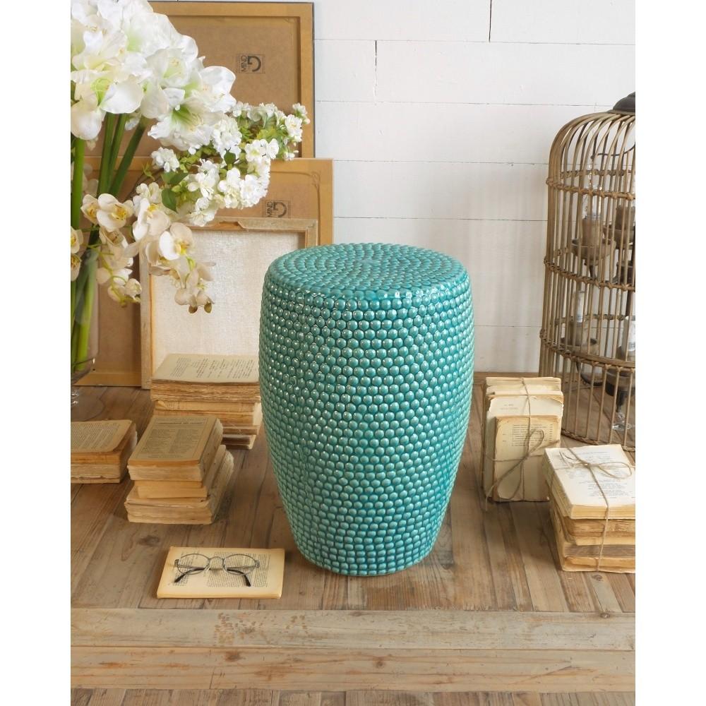 Tyrkysová keramická stolička Orchidea Milano Beeds