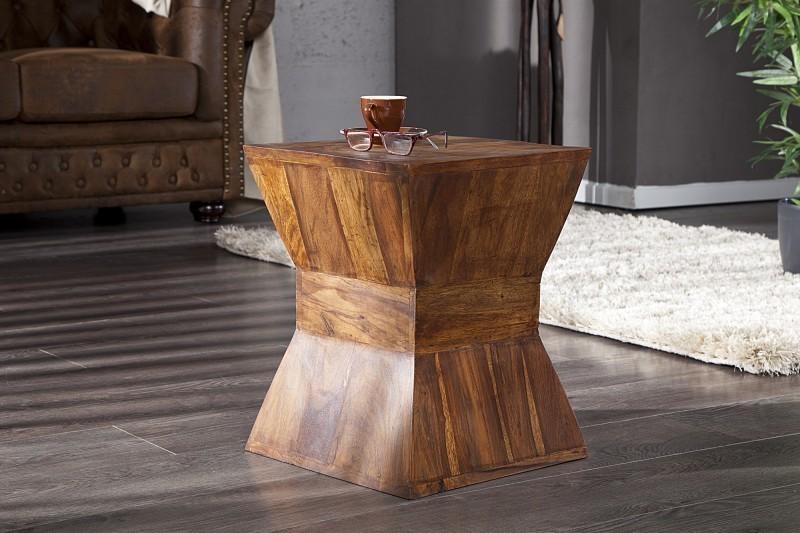 Odkladací stolík PYRAMID - hnedá