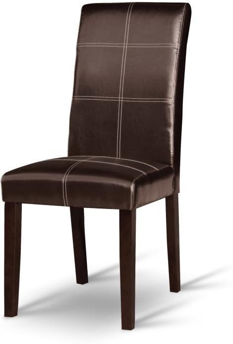 Jedálenská stolička, tmavý orech/ekokoža tmavo hnedá, RORY