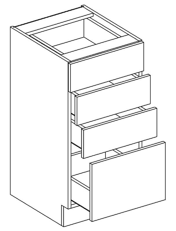>> D40S4 dolná skrinka so 4 zásuvkami, vhodná ku kuchyni PREMIUM
