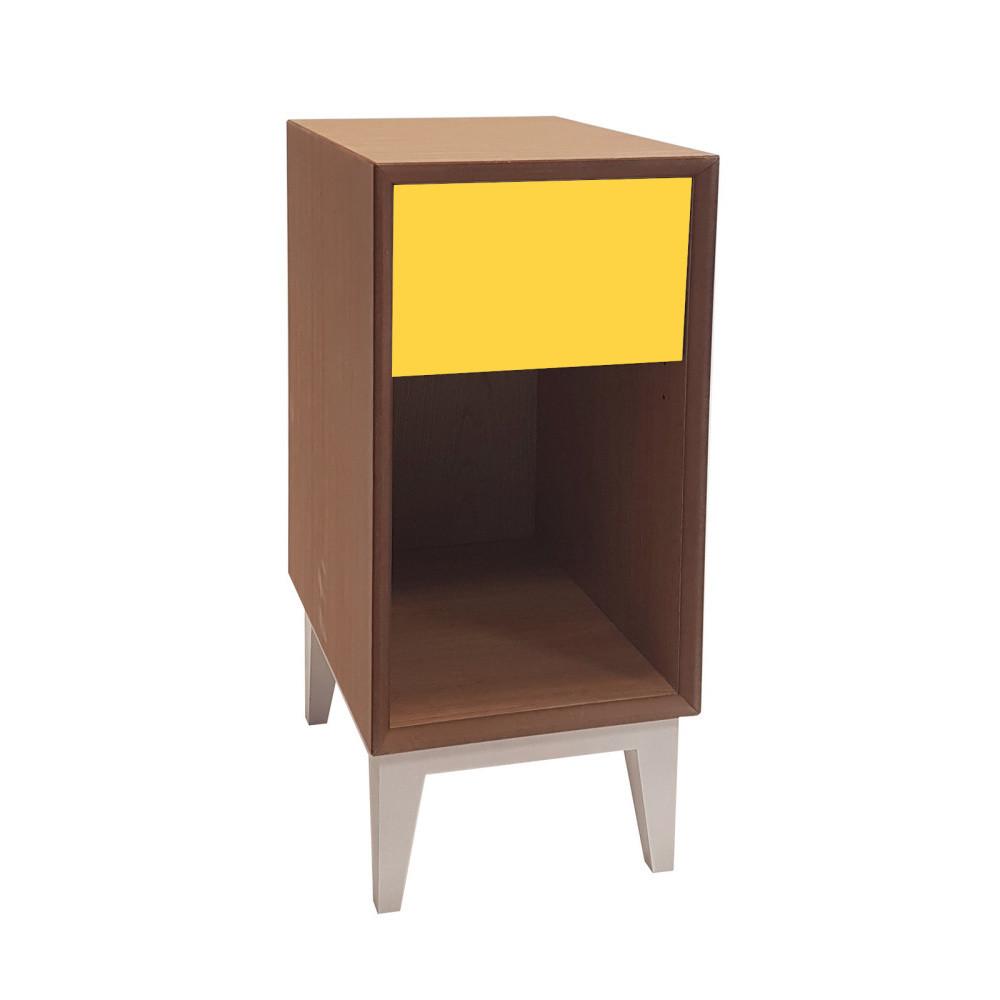 Malý nočný stolík so žltou zásuvkou Ragaba PIX