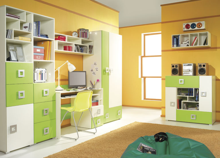 Detská izba Labirynt D | zelená