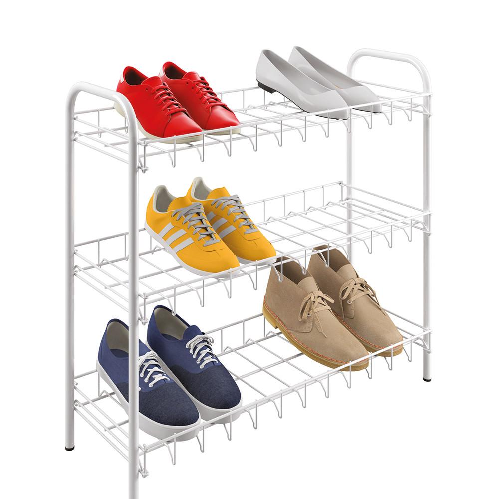 Trojposchodová skrinka na topánky Metaltex Shoe Rack