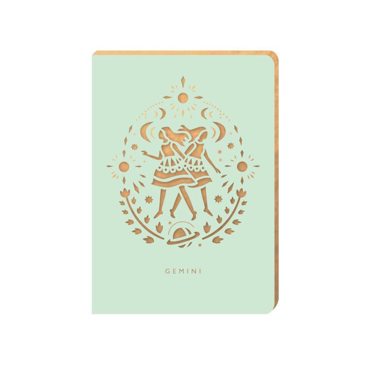 Linajkový zápisník Portico Designs Blíženci, 160stránok