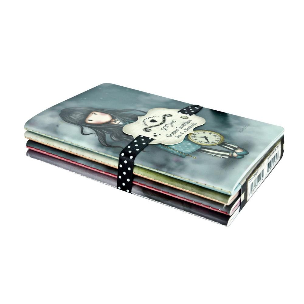 Sada 4 zápisníkov Santoro London Gorjuss Scribbles