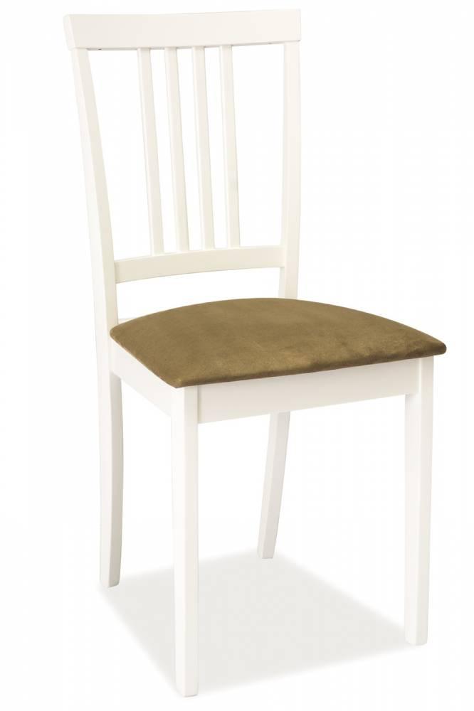 Jedálenská stolička CD-63 (biela + béžová)