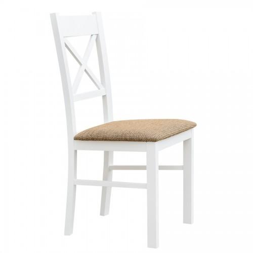 Biely nábytok Stolička Belluno Elegante 22, čalúnenie PALERMO 123