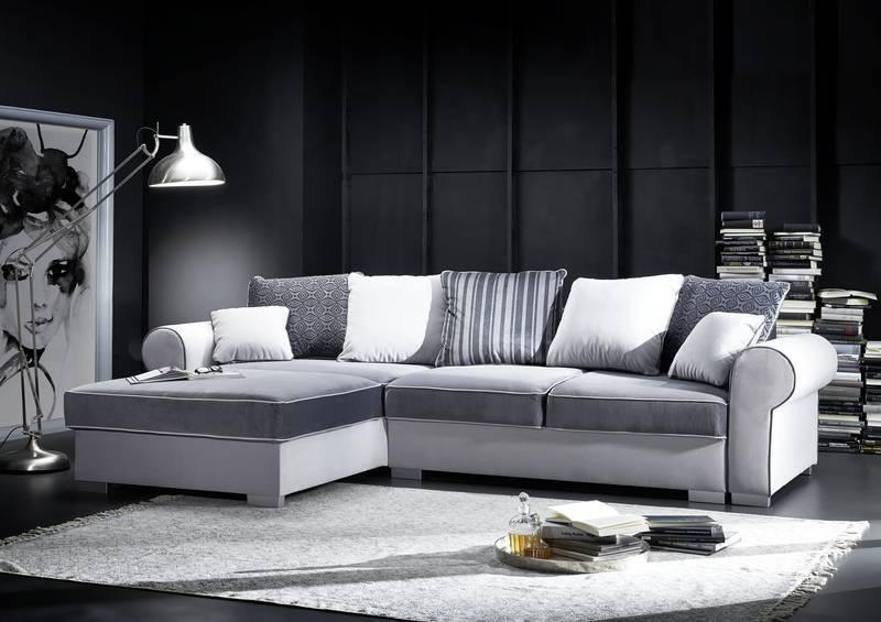 Bighome - Komfort Rohová sedačka, sivá