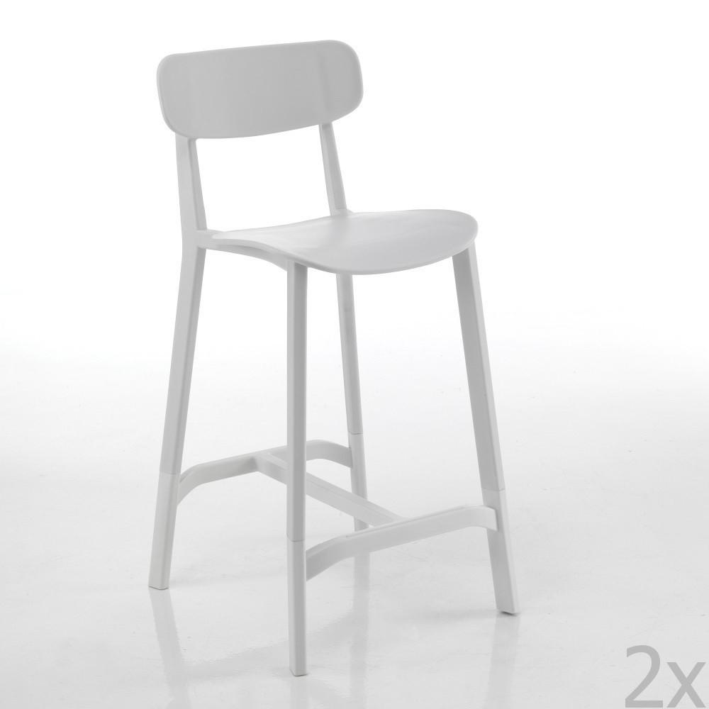 Sada 2 bielych barových stoličiek Tomasucci Mara