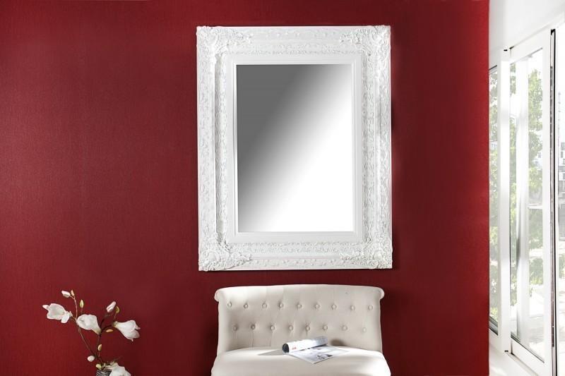 Nástenné zrkadlo CLEMONT 130 x 100 cm - biela