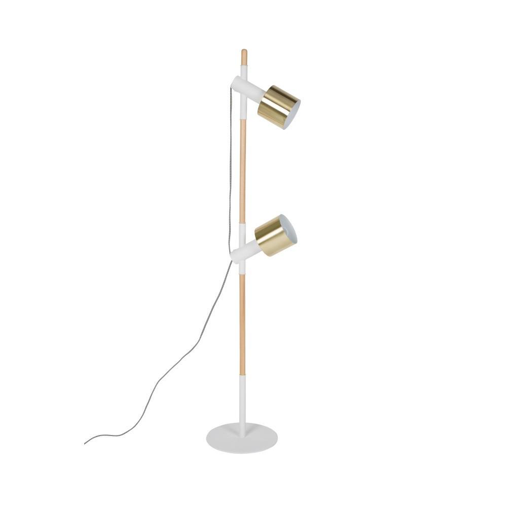 Biela stojací lampa Zuiver Ivy