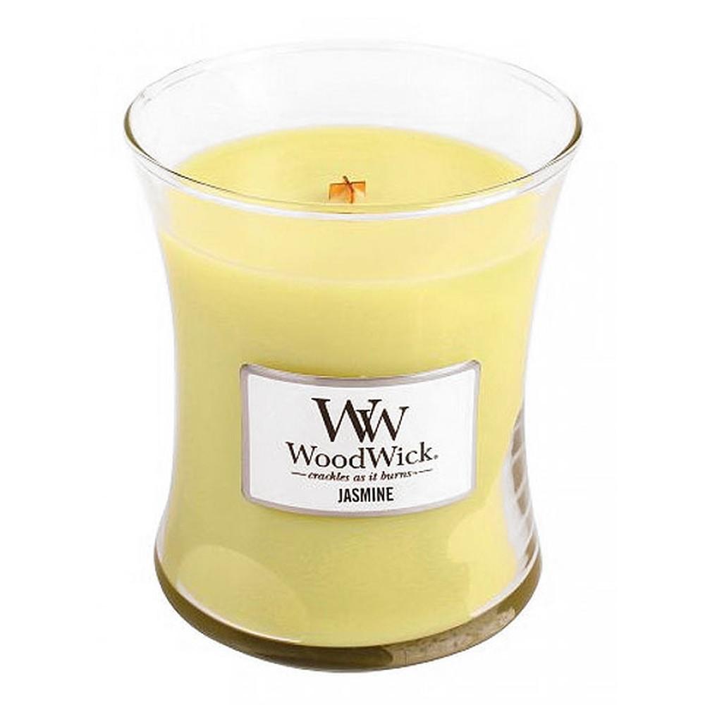 Sviečka s vôňou jazmínu Woodwick, doba horenia 60 hodín