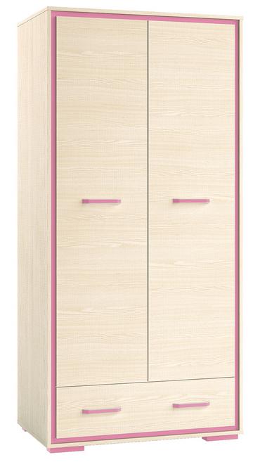 Šatníková skriňa BONTI 03   Farba: Ružová