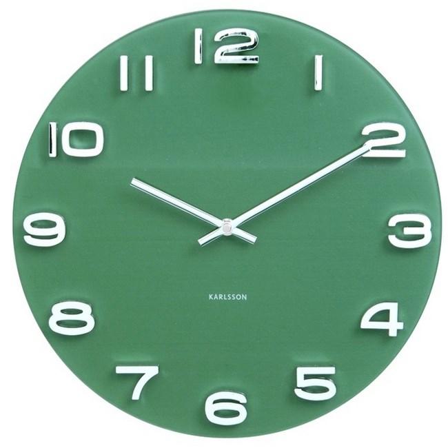 Karlsson 5640GR Designové nástenné hodiny, 35 cm