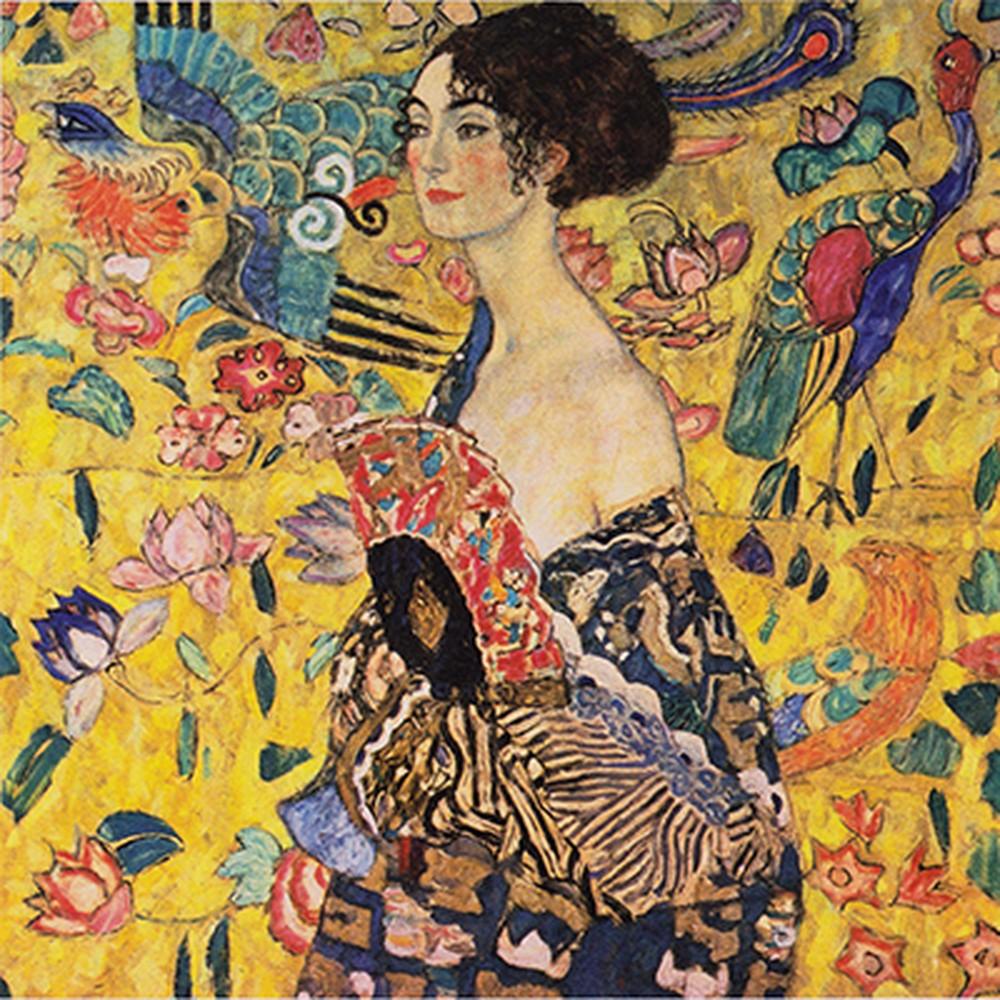 Obraz Gustav Klimt - Lady with Fan, 60x60cm