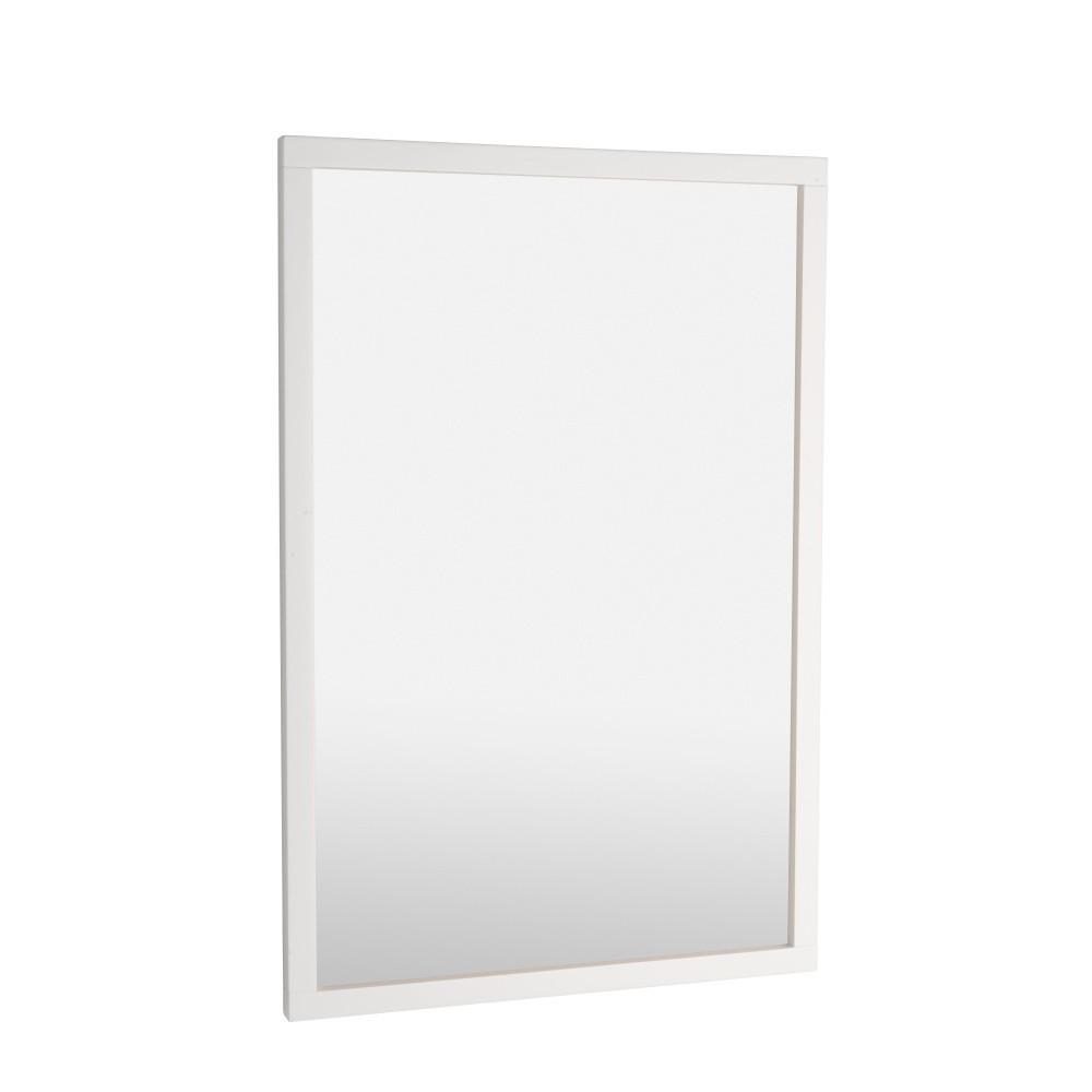 Biele dubové zrkadlo Folke Lodur