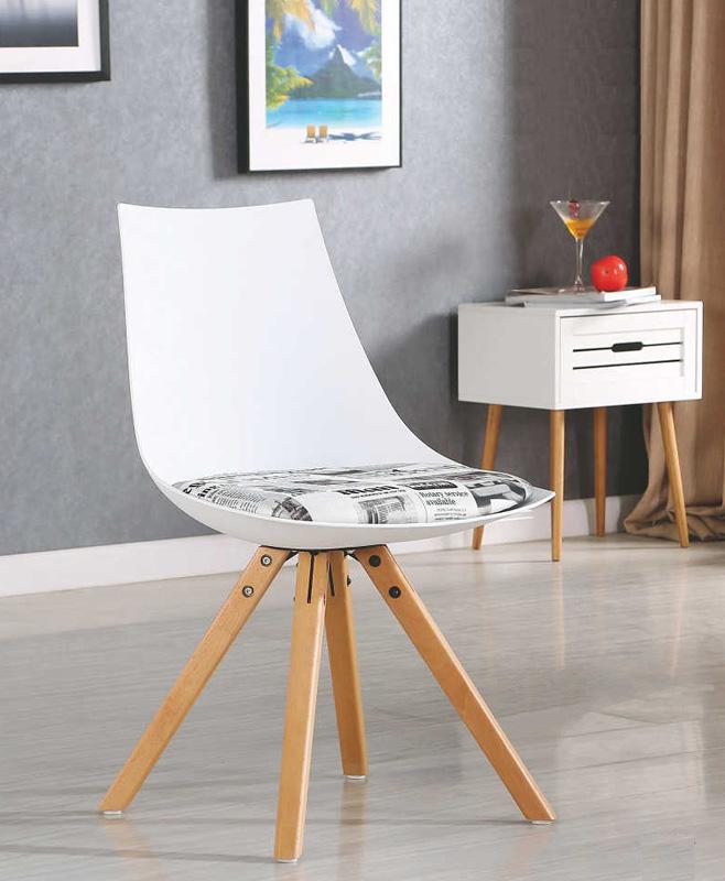 >> LIBERA jedálenská stolička, biela
