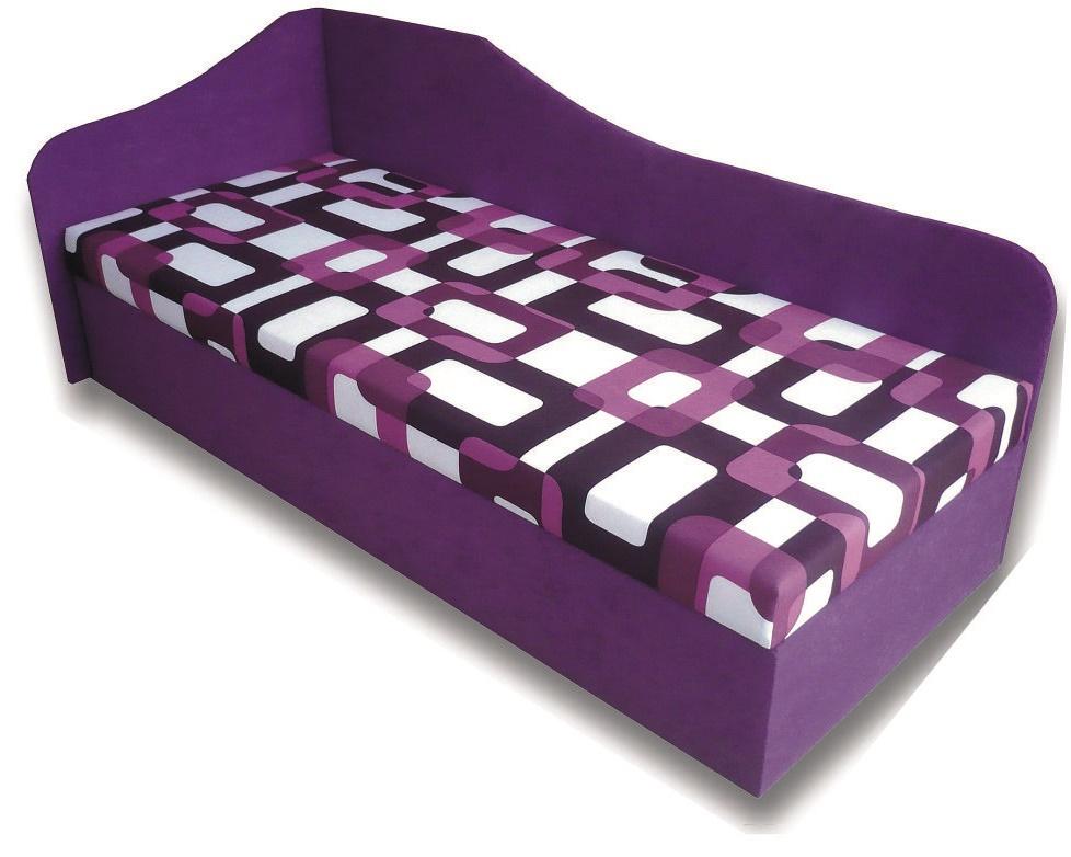 Jednolôžková posteľ (váľanda) 80 cm Lux 87 (L) (s matracom)