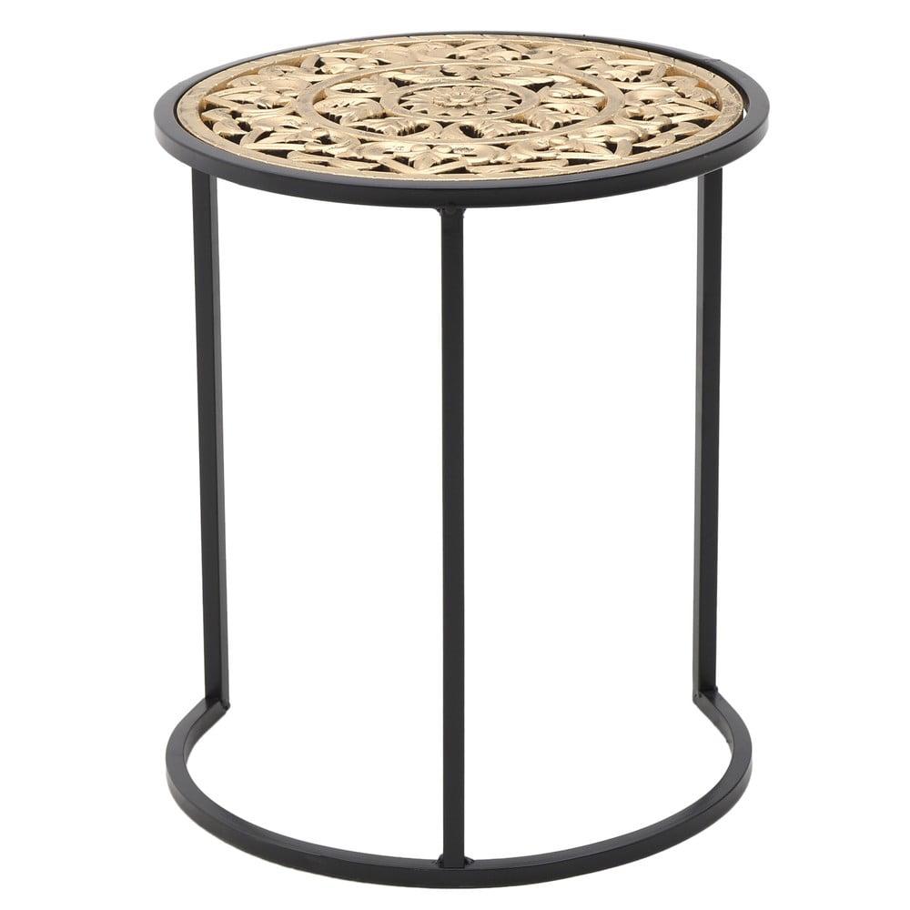Kovový odkladací stolík InArt Metallic, ⌀ 38 cm