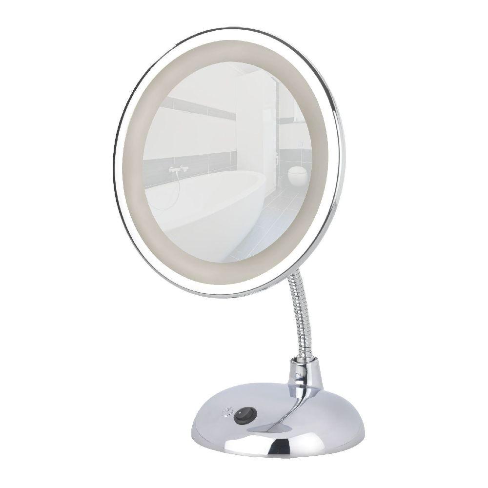 Chrómované kozmetické zrkadlo s LED svetlom Wenko Style
