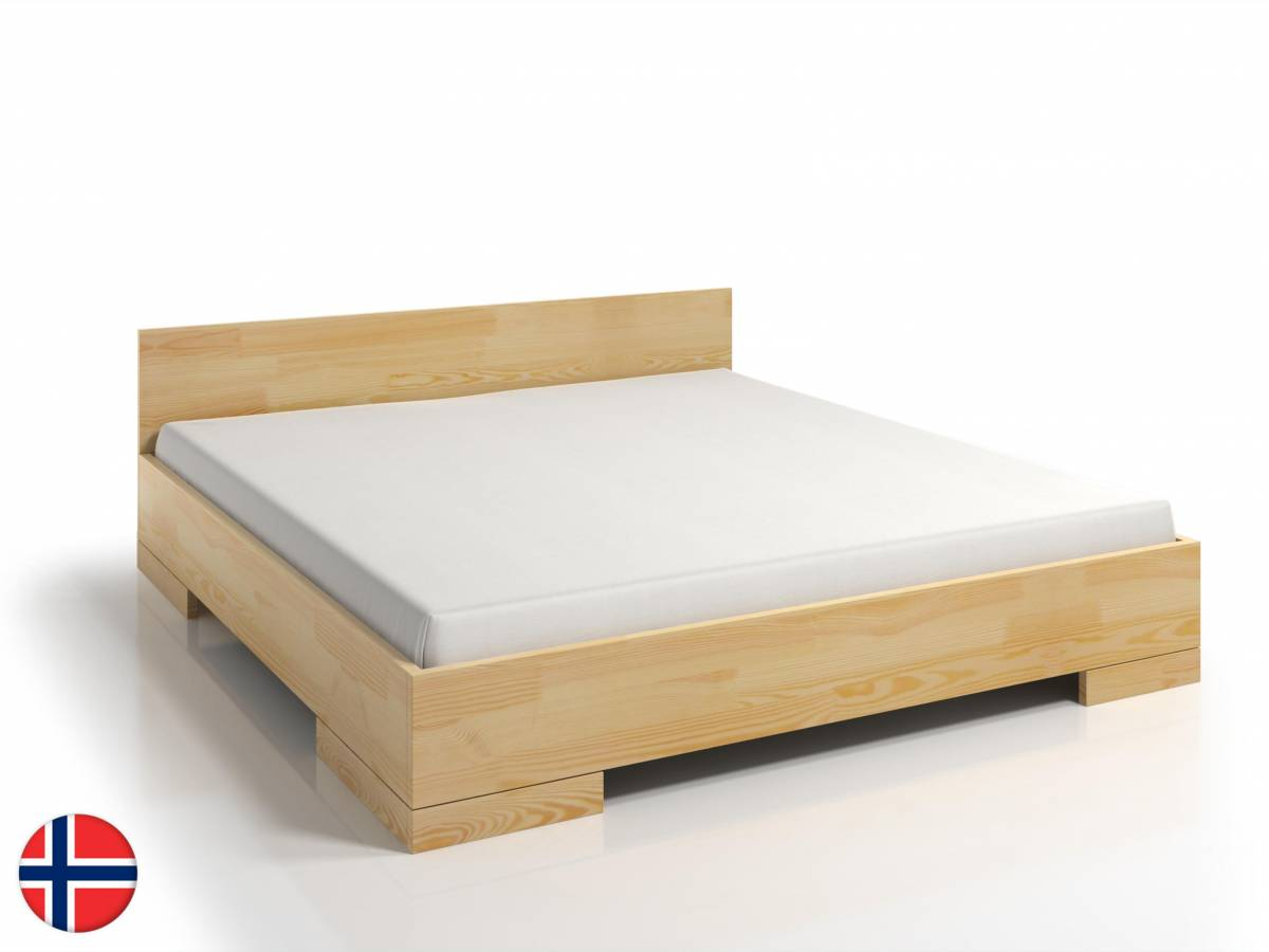 Manželská posteľ 160 cm Naturlig Stalander Maxi (borovica) (s roštom)