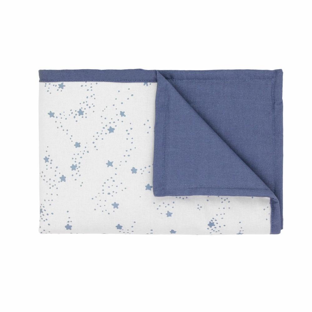 Modro-biela detská deka s modrými hviezdičkami Art For Kids Stars