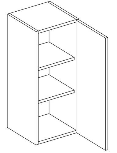 W30 horná skrinka 1-dverová vhodná ku kuchyni DARK, LATTE
