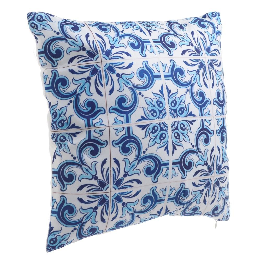 Modrý vankúš z mikrovlákna InArt Floralisa, 40×40cm