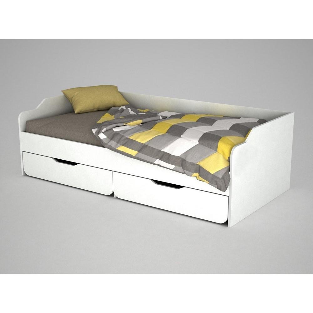 Biela drevená jednolôžková posteľ Young