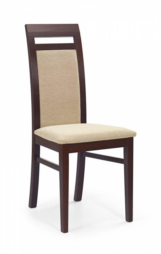 Jedálenská stolička Albert Orech tmavý + béžová