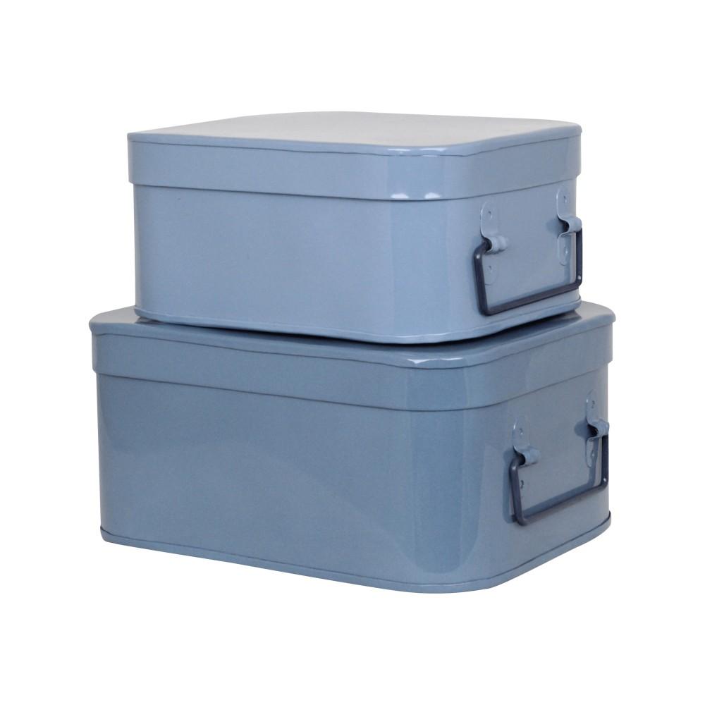 Sada 2 modrých boxov Strömshaga Olle