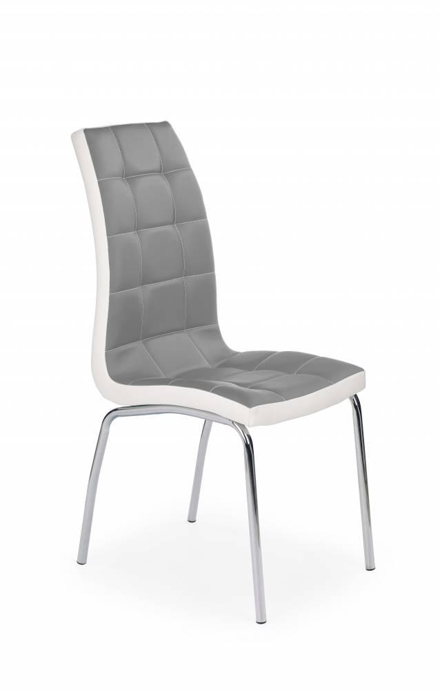 Jedálenská stolička K186 (sivá + biela)
