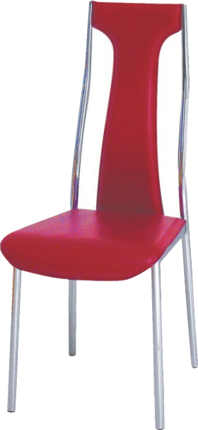 Jedálenská stolička Ria-Iris červená