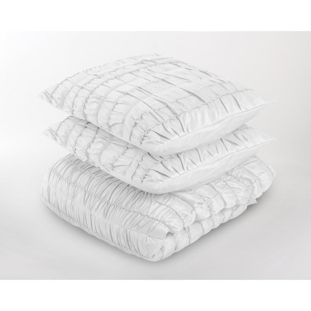 Biely pléd cez posteľ s dvomi obliečkami na vankúš Dreamhouse Victorian, 260 x 250 cm